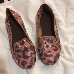Mia kids leopard cat spots sequin shoes 2.5 EUC